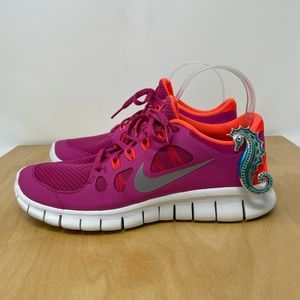Nike Free 5.0 Pink/Coral Running Shoes Size 8.5/Y7